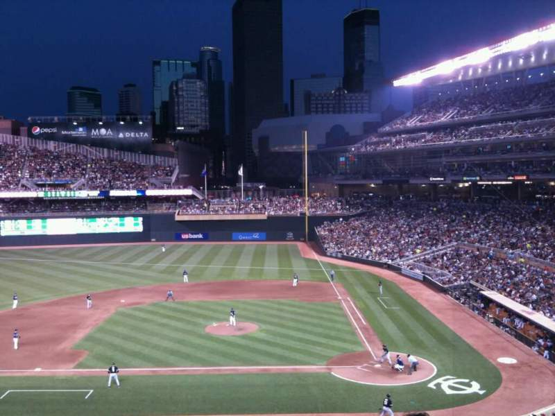 Target Field, section: L, row: 1, seat: 3