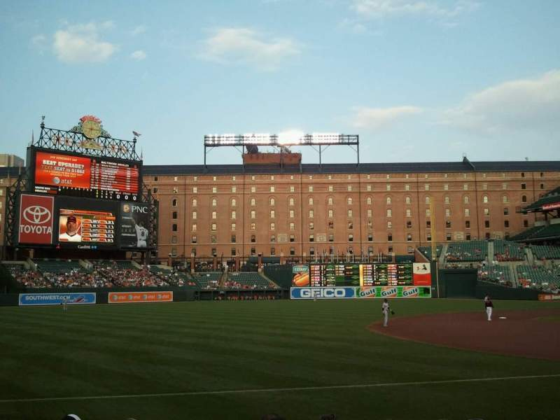 Seating view for Oriole Park at Camden Yards Section 61 Row 8 Seat 11