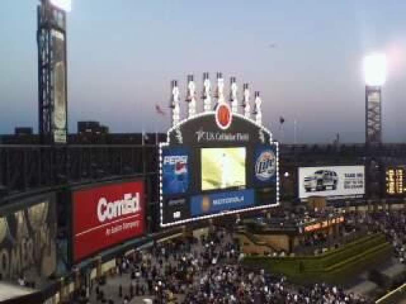 Seating view for Guaranteed Rate Field Section 554 Row 9 Seat 2