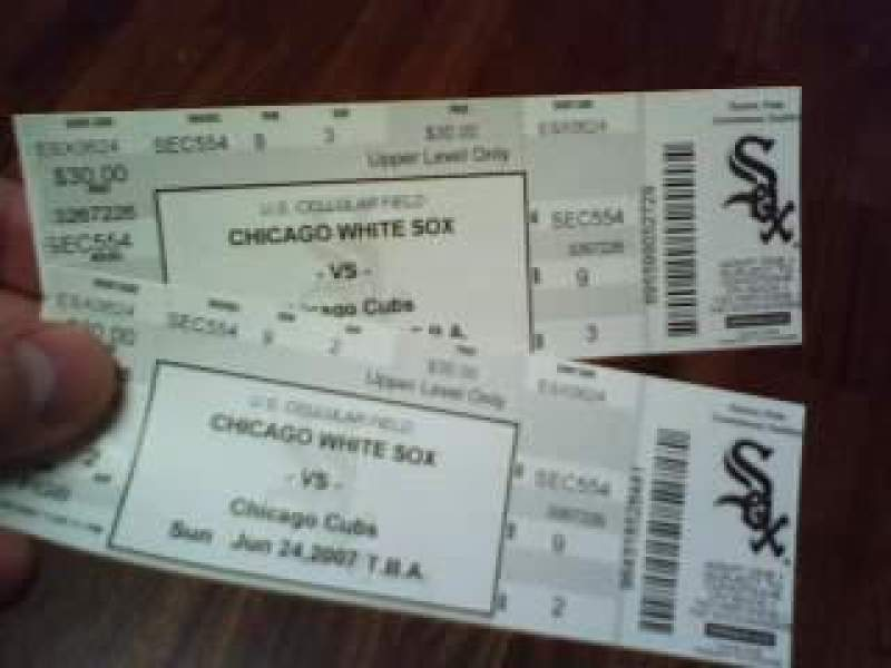 Seating view for Guaranteed Rate Field Section 554 Row 9 Seat 2-3