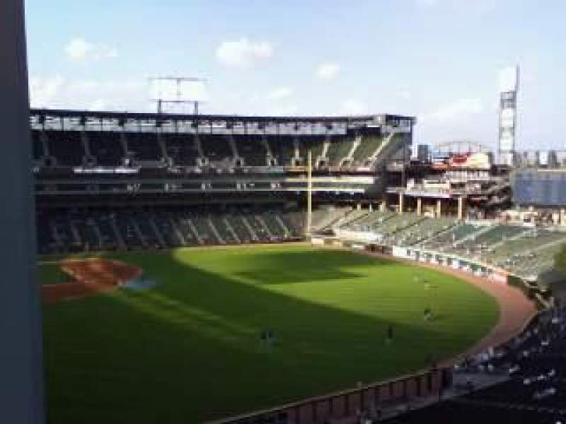 Seating view for Guaranteed Rate Field Section 518