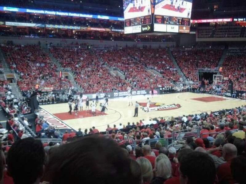 Seating view for KFC Yum! Center Section 108 Row X Seat 15
