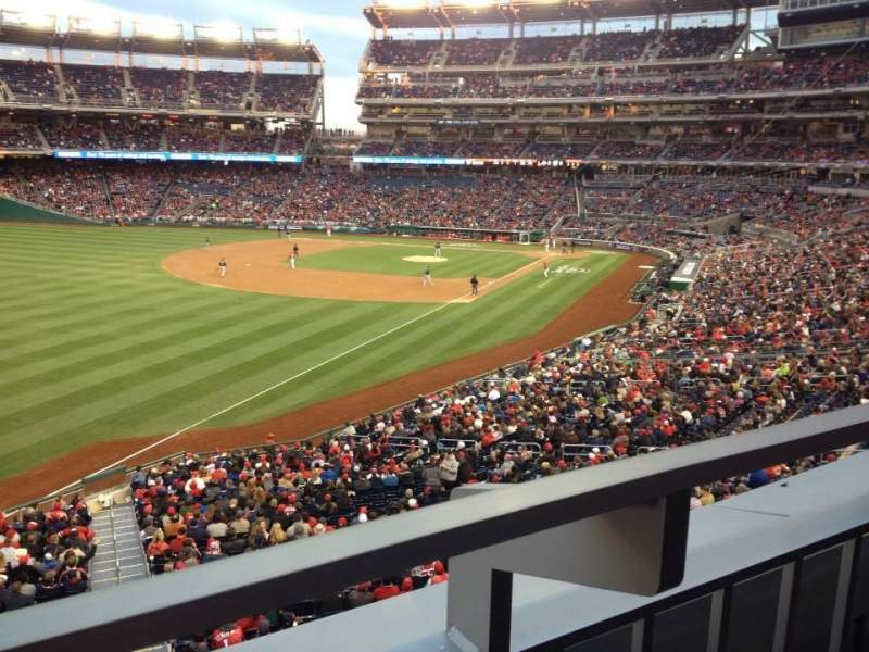 Seating view for Nationals Park Section 202 Row A Seat 17