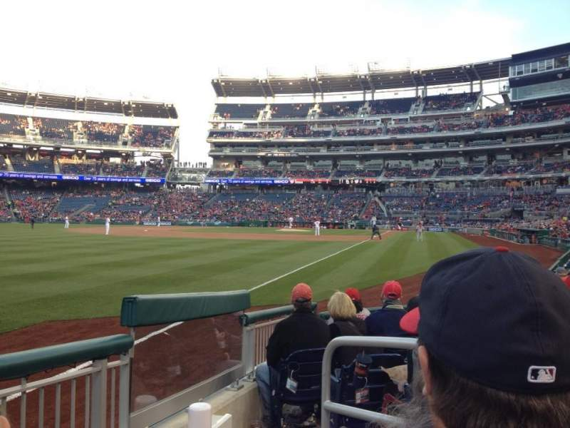 Seating view for Nationals Park Section 108 Row H Seat 1