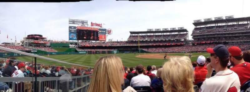 Seating view for Nationals Park Section 112 Row N