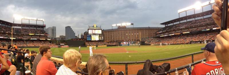 Seating view for Oriole Park at Camden Yards Section 54 Row 2 Seat 7