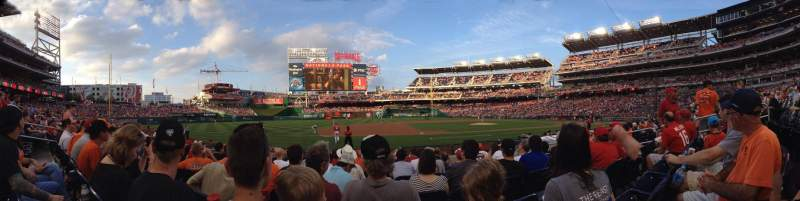 Seating view for Nationals Park Section 115 Row L Seat 7