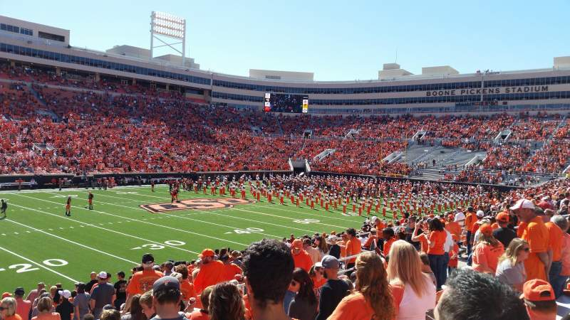 Boone Pickens Stadium, section: 227, row: 9, seat: 13