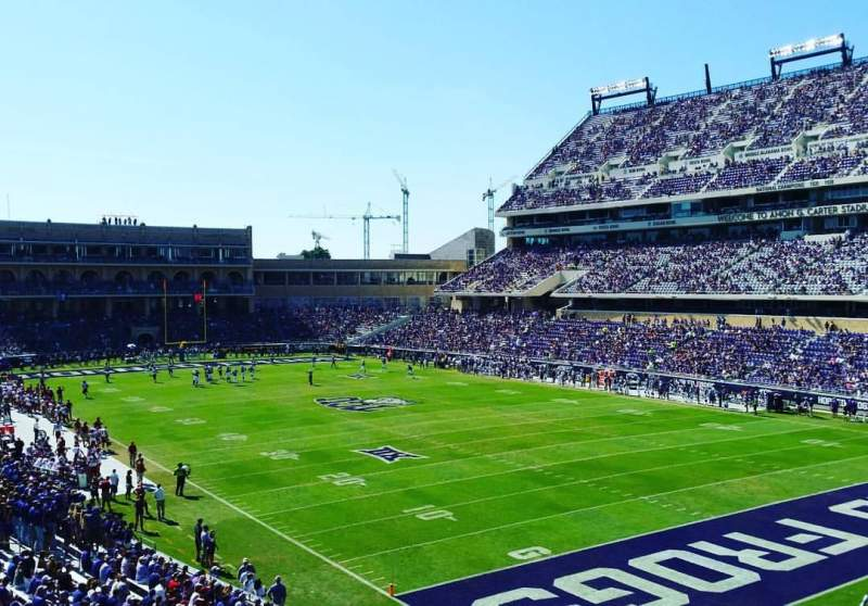 Seating view for Amon G. Carter Stadium Section 228 Row B Seat 101