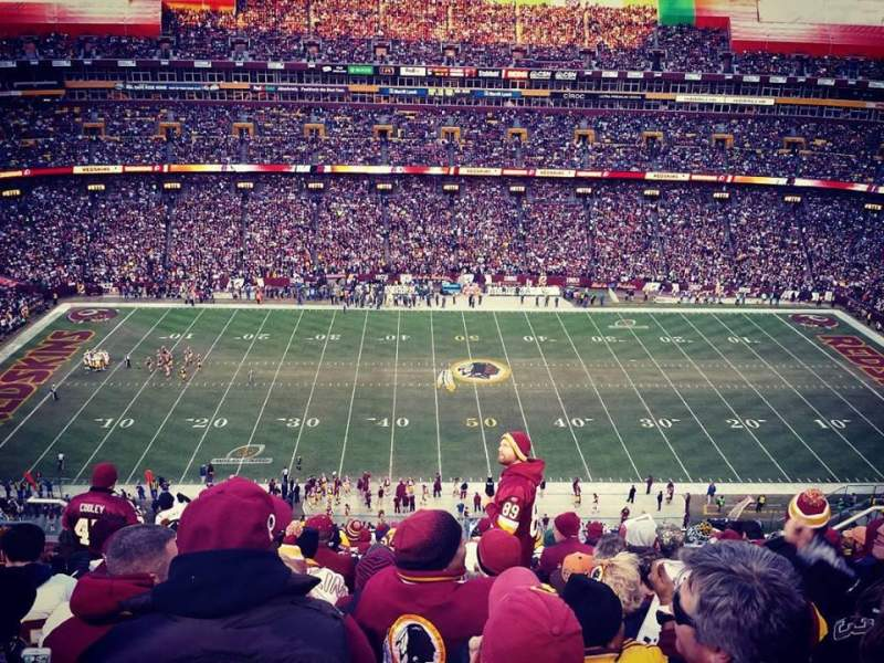 Seating view for FedEx Field Section 401 Row 12 Seat 14