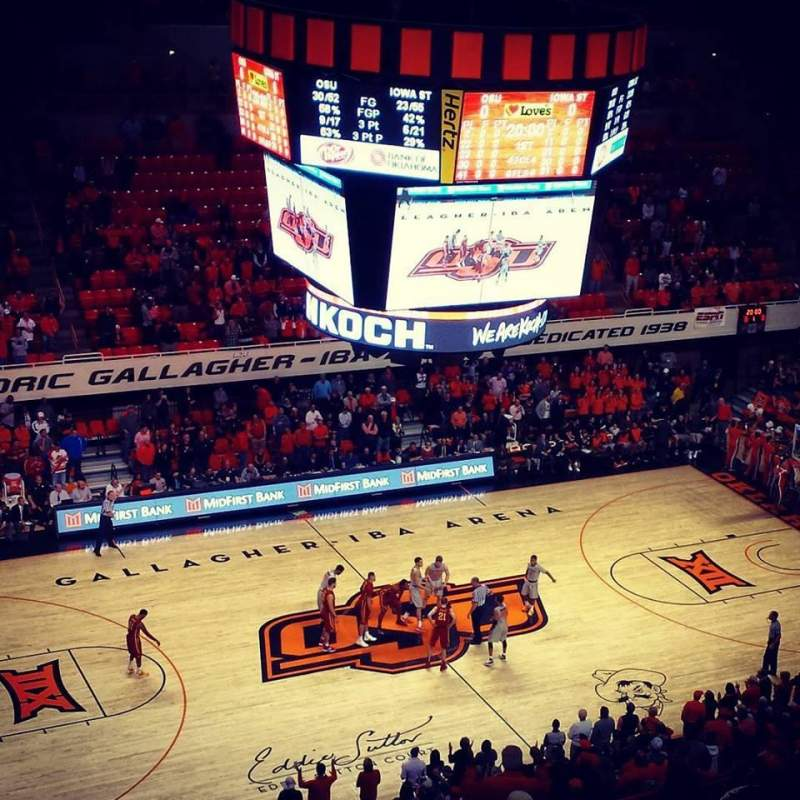 Seating view for Gallagher-Iba Arena Section 305 Row 11