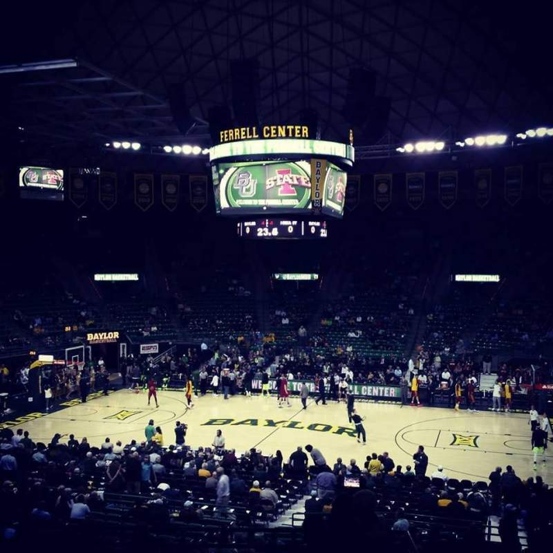 Seating view for Ferrell Center Section 124 Row 23