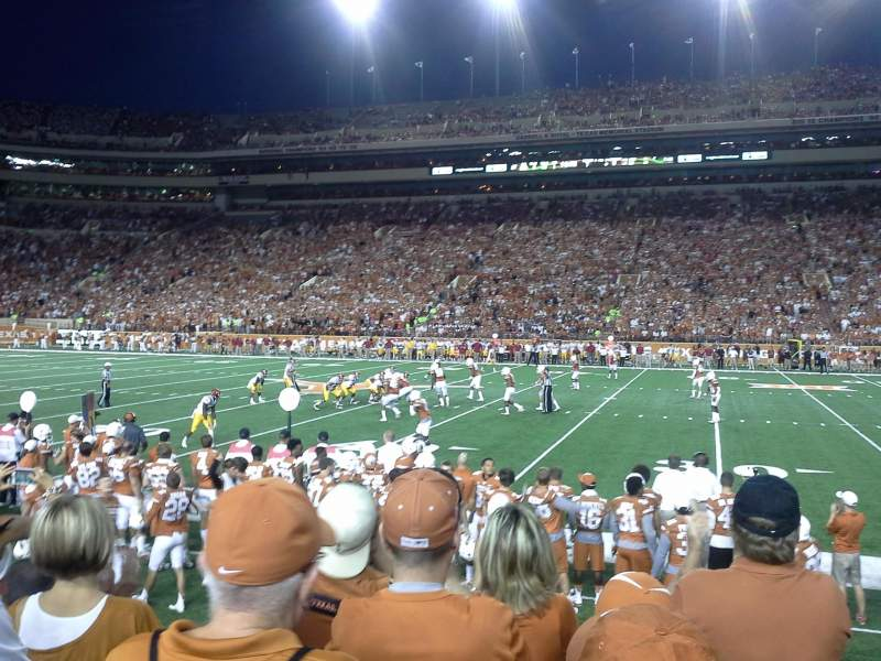 Seating view for Texas Memorial Stadium Section 4 Row 5