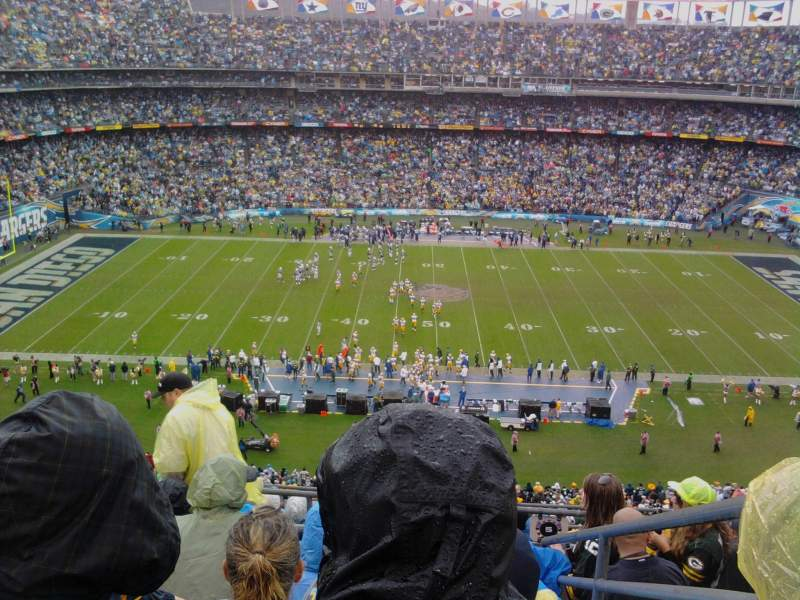 Seating view for Qualcomm Stadium Section V6 Row 9