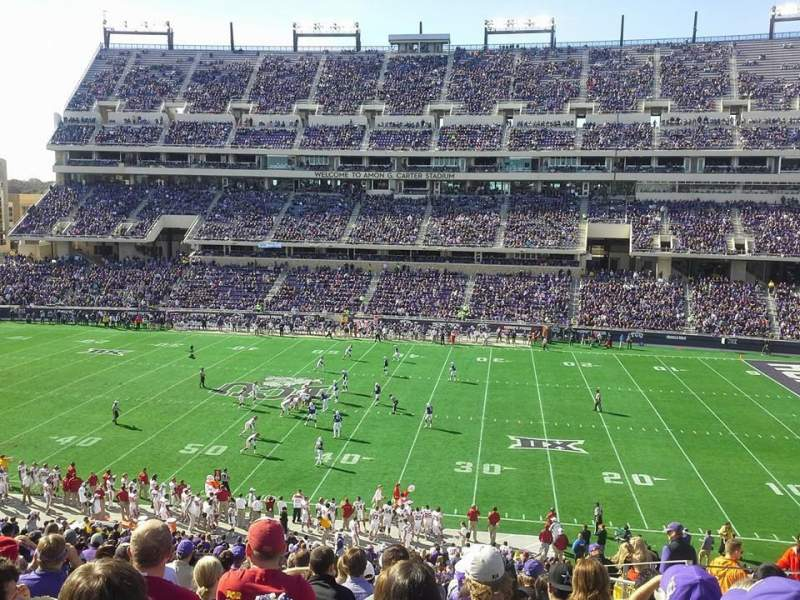 Seating view for Amon G. Carter Stadium Section 233 Row Q