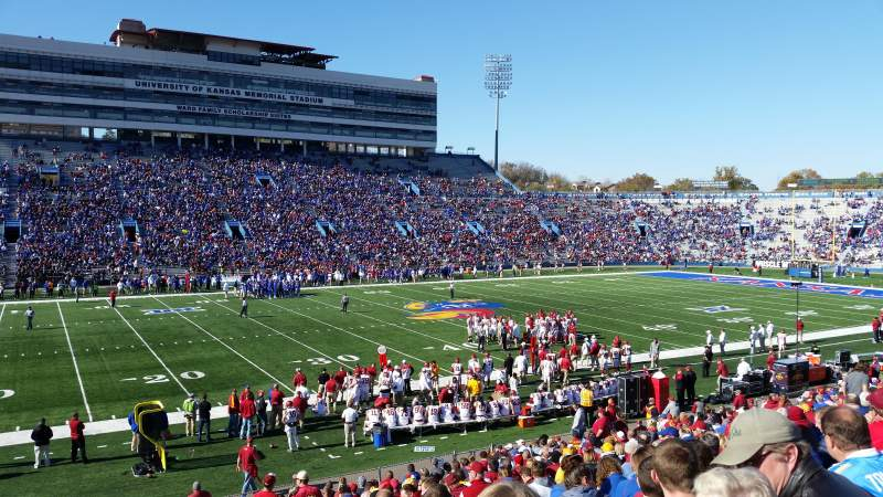 Seating view for David Booth Kansas Memorial Stadium Section 23 Row 28 Seat 28
