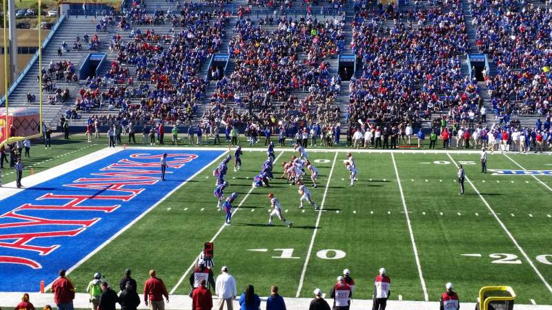 Seating view for University of Kansas Memorial Stadium Section 23 Row 28 Seat 28