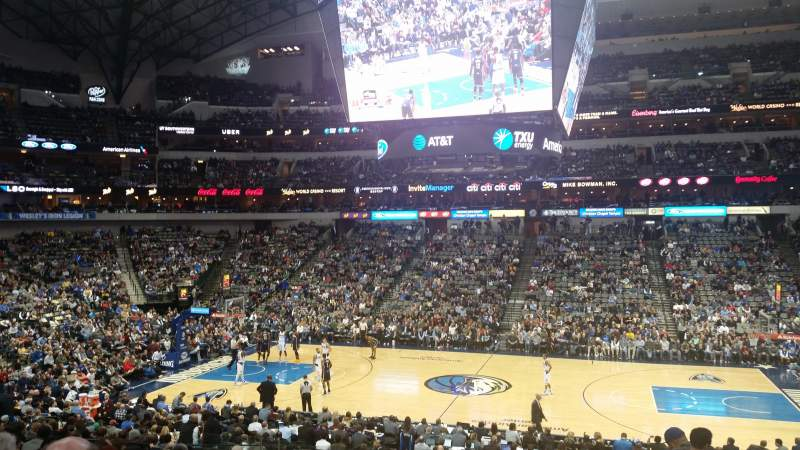 Seating view for American Airlines Center Section 118 Row Y Seat 6