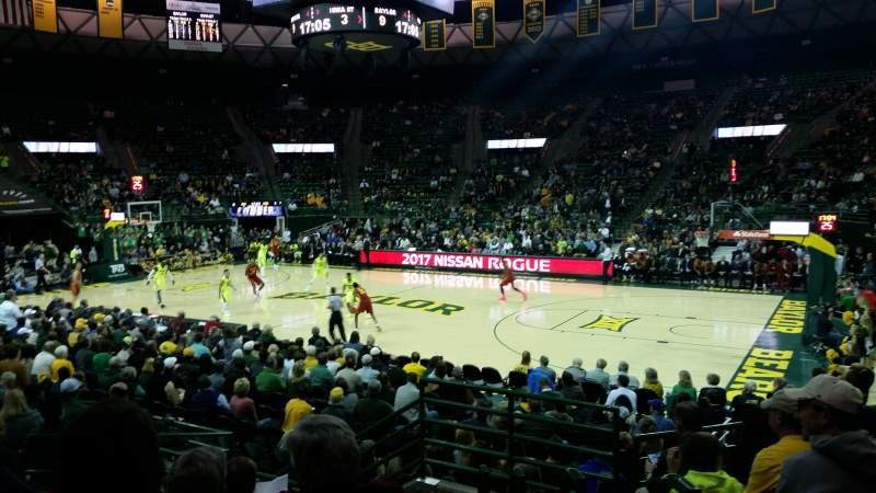 Seating view for Ferrell Center Section 123 Row 12 Seat 3