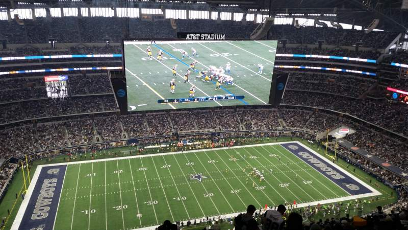 Seating view for AT&T Stadium Section 415 Row 29 Seat 2