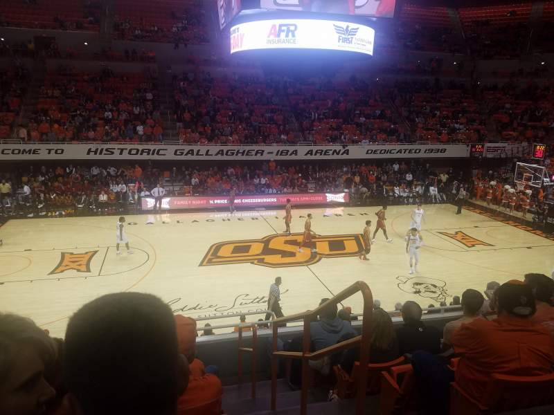 Seating view for Gallagher-Iba Arena Section 204 Row 7 Seat 1