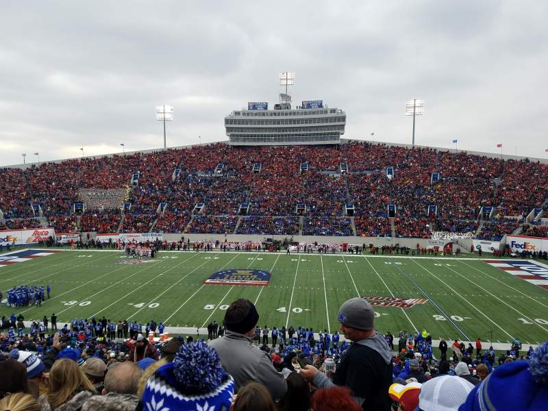 Seating view for Liberty Bowl Memorial Stadium Section 119 Row 50 Seat 27