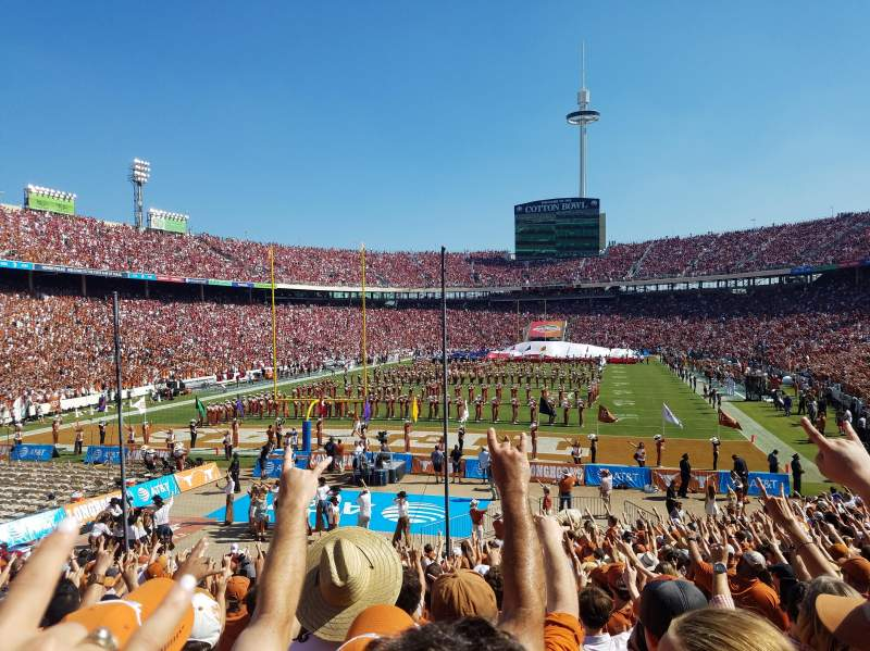 Seating view for Cotton Bowl Section 14 Row 26 Seat 6
