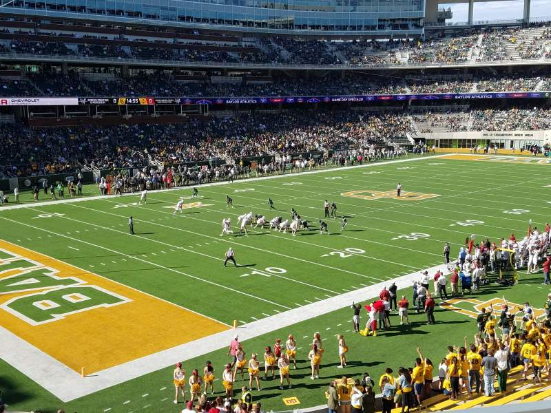 Seating view for McLane Stadium Section 230 Row 2 Seat 2