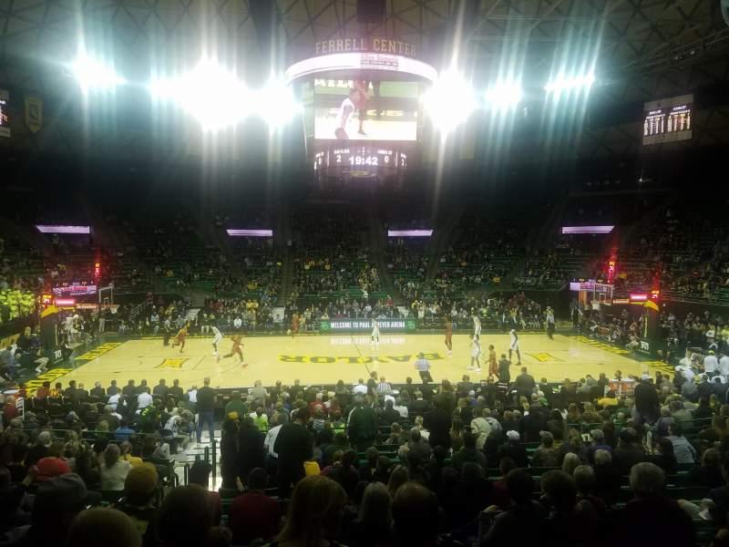 Ferrell Center Interactive Basketball Seating Chart