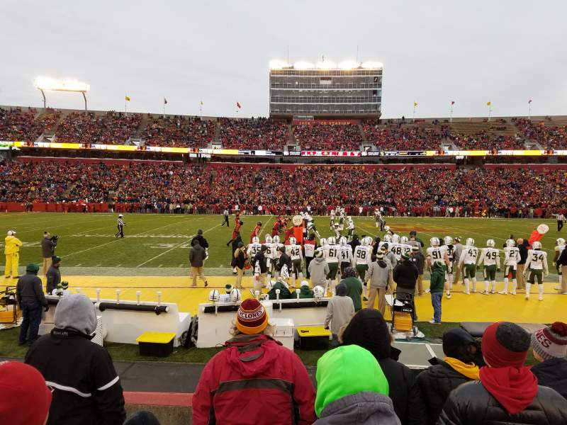 Seating view for Jack Trice Stadium Section 32 Row 6 Seat 13