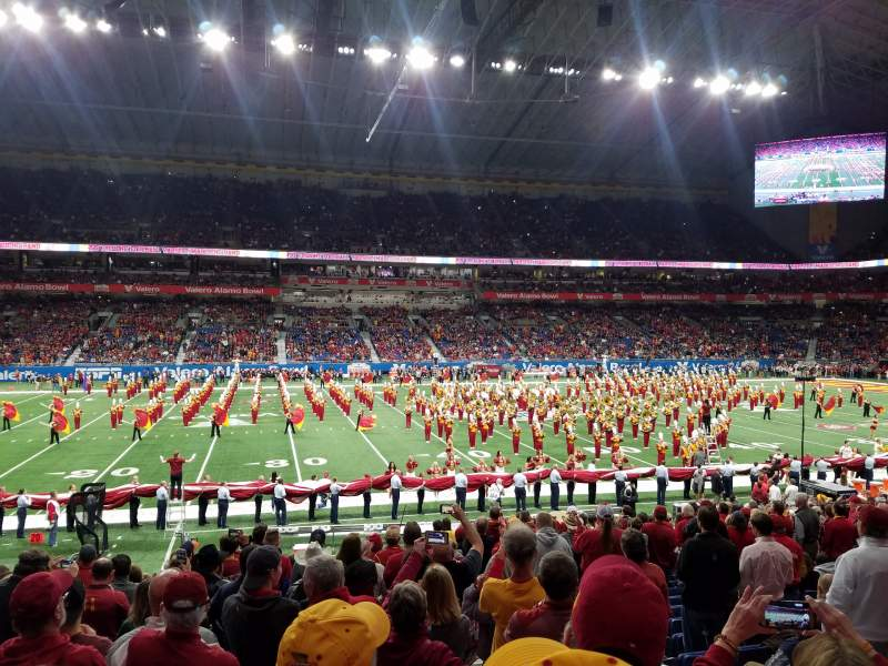 Seating view for Alamodome Section 136 Row 18 Seat 7