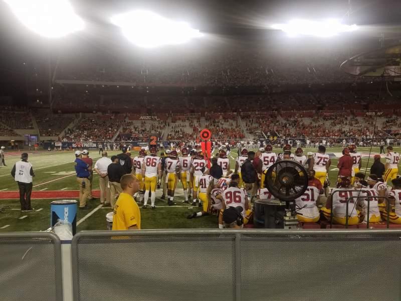 Seating view for Arizona Stadium Section 22 Row 1