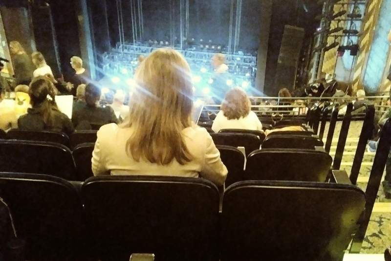 Seating view for Lunt-Fontanne Theatre Section REAR MEZZANINE RC Row J Seat 126