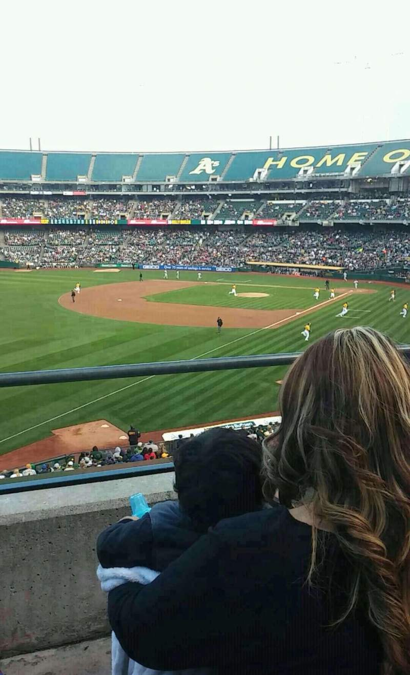 Seating view for Oakland Alameda Coliseum Section 229 Row 2 Seat 21