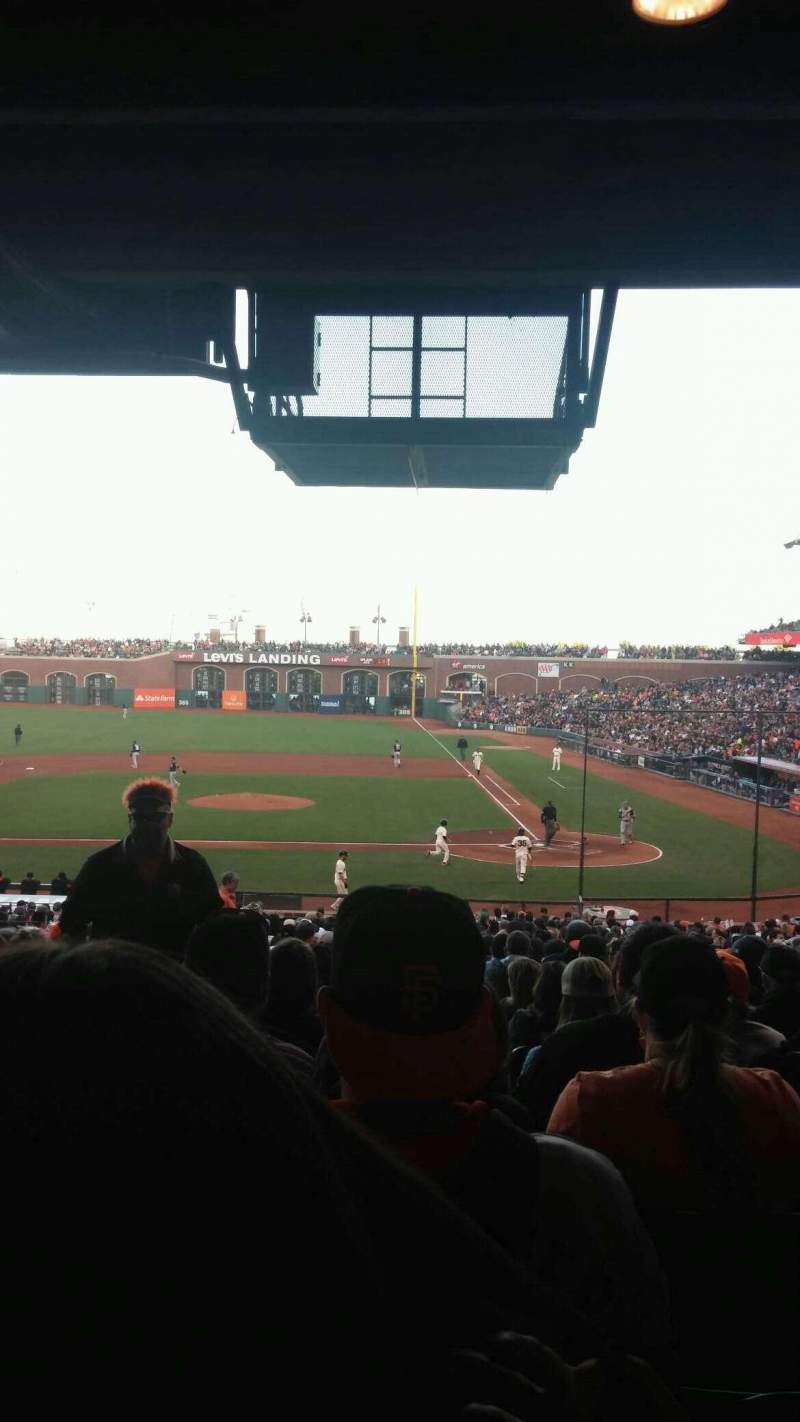 Seating view for AT&T Park Section 121 Row 37 Seat 16