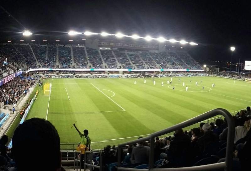 Seating view for Avaya Stadium Section 123 Row 15 Seat 1