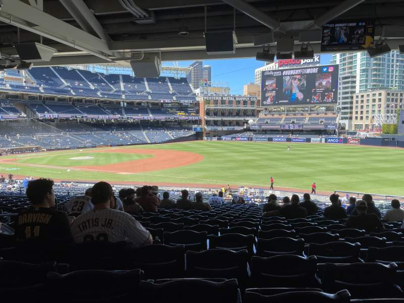 Seating view for PETCO Park Section 117 Row 43 Seat 8
