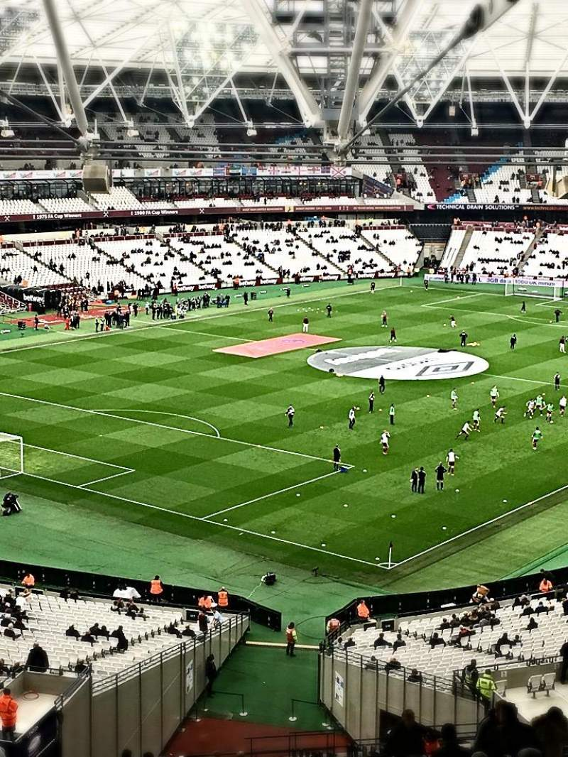 Seating view for London Stadium Section 228 Row 66