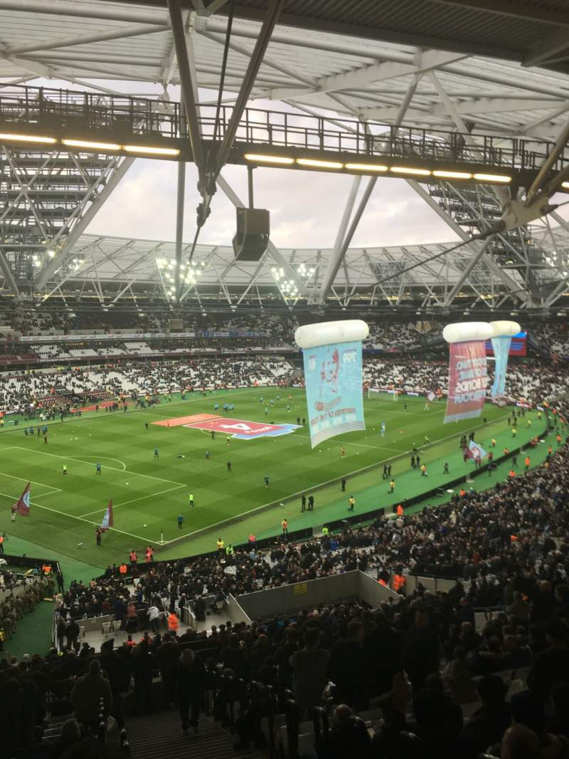 Seating view for London Stadium Section 229 Row 61