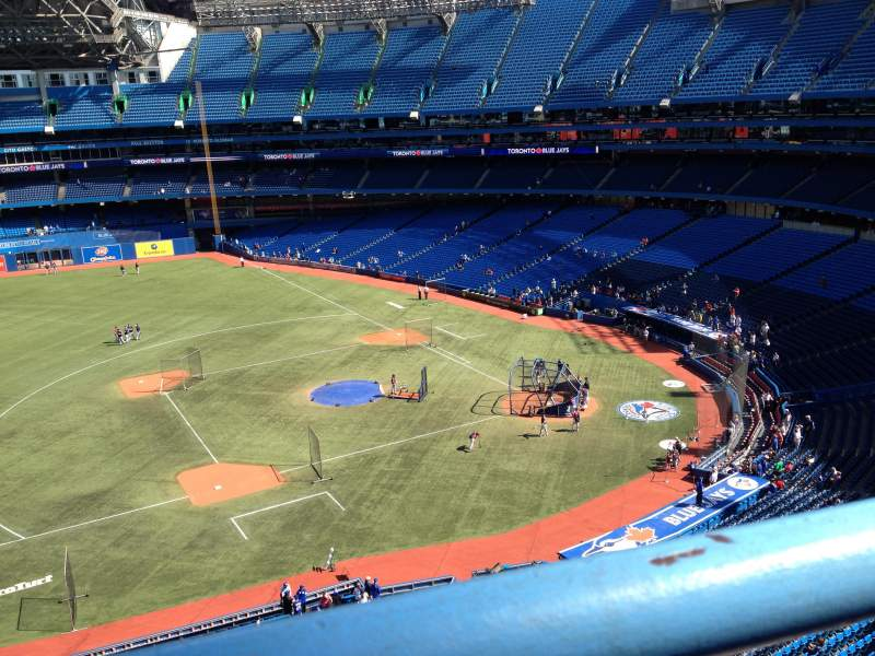 Seating view for Rogers Centre Section 531 Row 1 Seat 1