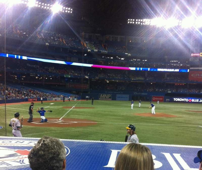 Seating view for Rogers Centre Section 119 Row 10  Seat 7