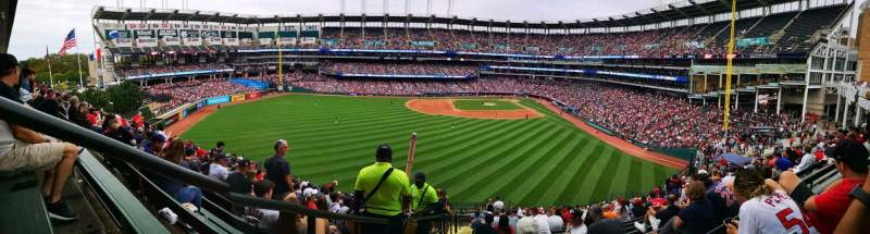 Seating view for Progressive Field Section 181 Row X Seat 30