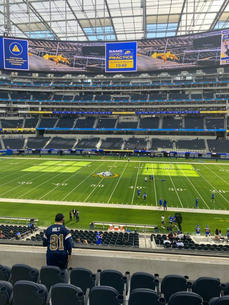 Seating view for SoFi Stadium Section VIP247 Row 6 Seat 10