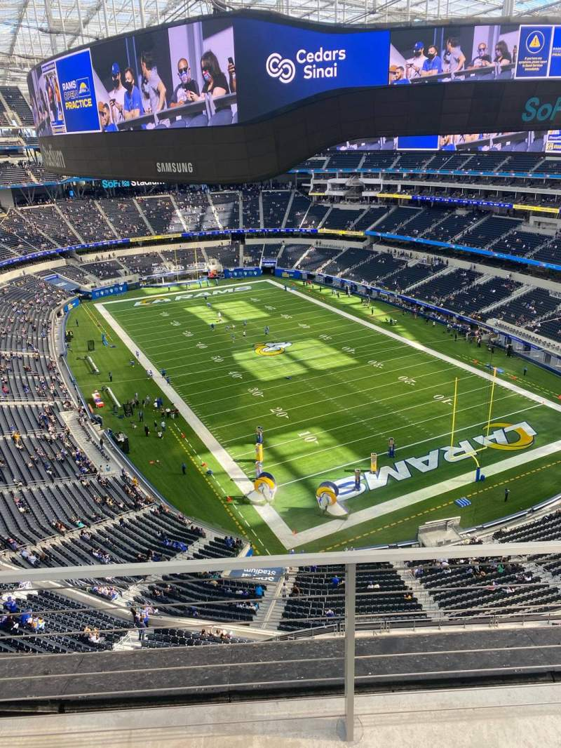 Seating view for SoFi Stadium Section 454 Row 2 Seat 10