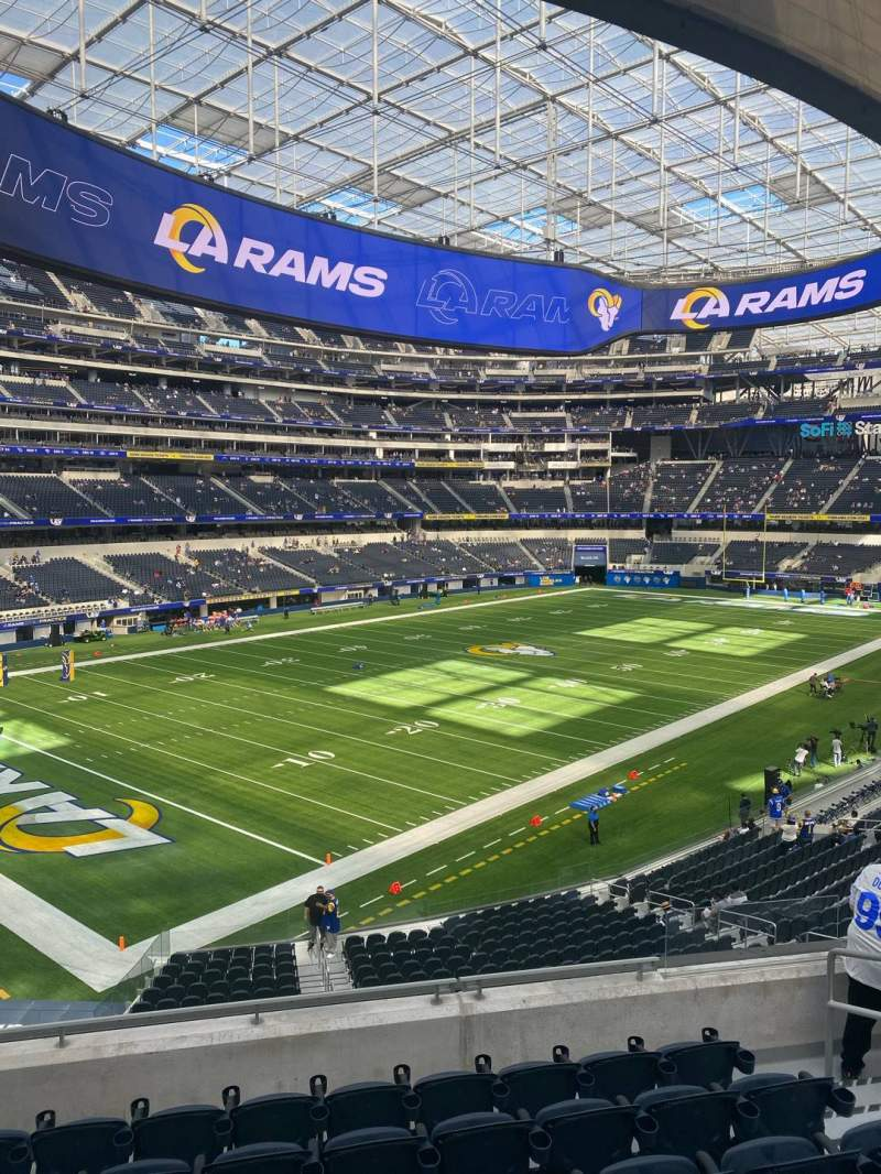 Seating view for SoFi Stadium Section 212 Row 7 Seat 6