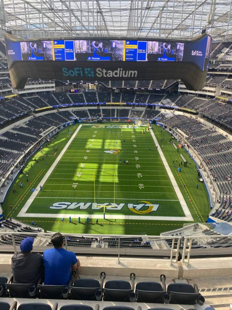 Seating view for SoFi Stadium Section 429 Row 5 Seat 3
