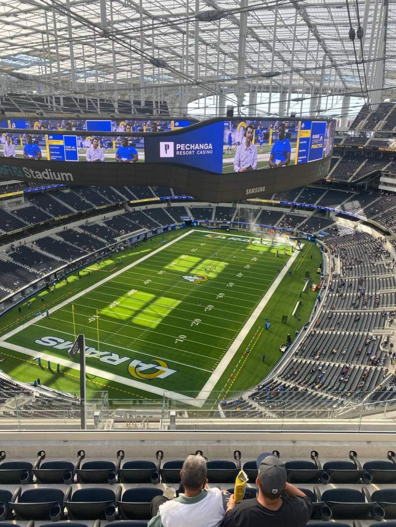 Seating view for SoFi Stadium Section 528 Row 6 Seat 8