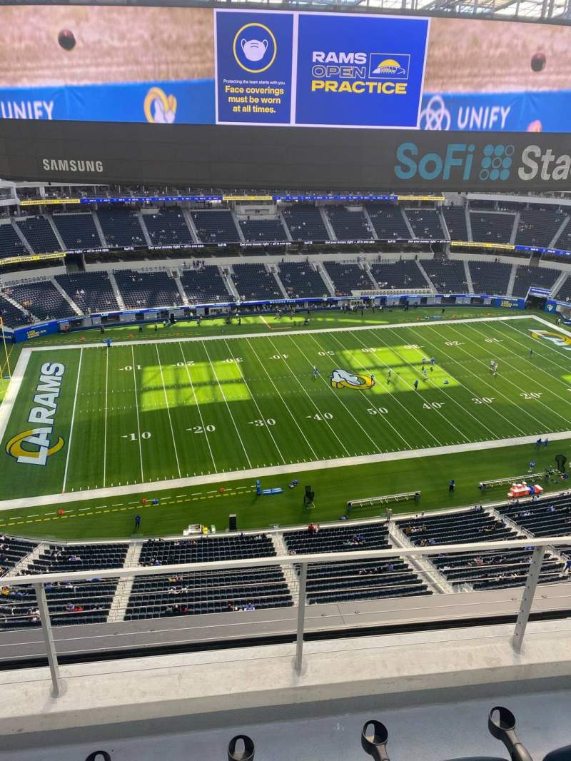 Seating view for SoFi Stadium Section 440 Row 3 Seat 21