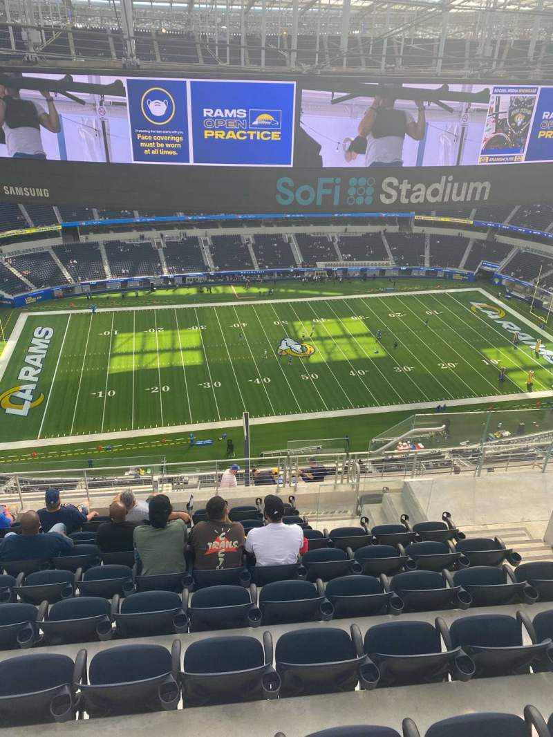 Seating view for SoFi Stadium Section 538 Row 9 Seat 12