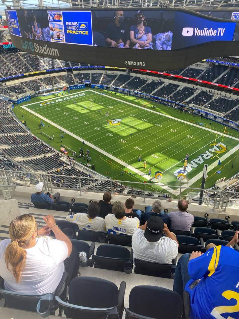 Seating view for SoFi Stadium Section 548 Row 7 Seat 15